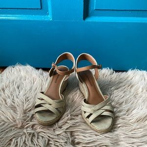 Lucky Brand Wedges Tan & Cream Size 8